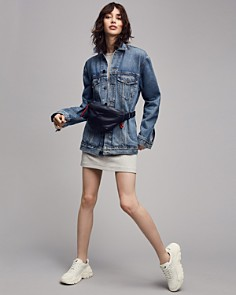 alexanderwang.t - Daze Denim Jacket in Light Indigo Aged