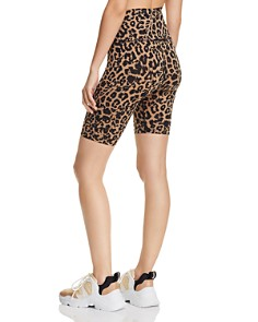 LNA - Leopard Print Bike Shorts