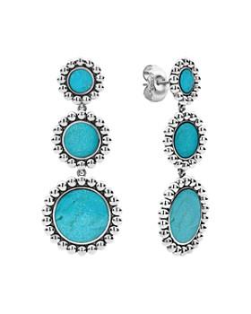 LAGOS - Sterling Silver Maya Turquoise Circle Drop Earrings