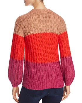 Vero Moda - Becca Color-Block Chunky Cable Sweater