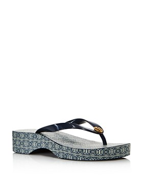 a1ac3e41c3a Tory Burch - Women's Cut-Out Wedge Flip-Flops ...