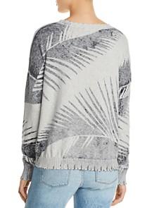 Minnie Rose - Distressed Palm Print Sweater
