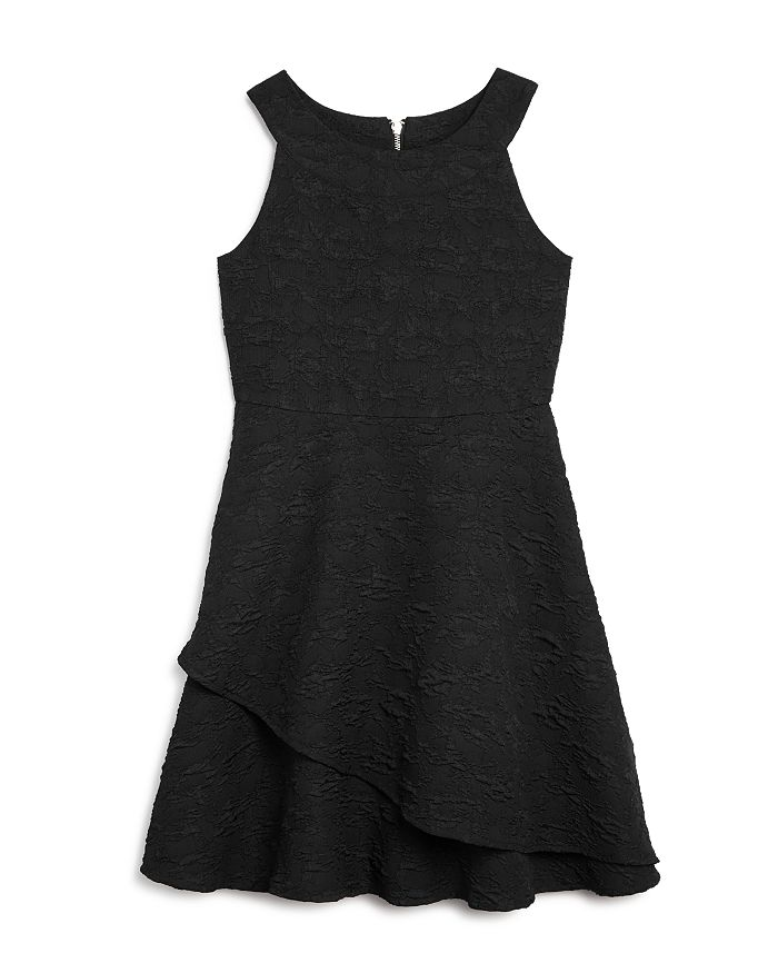 US Angels - Girls' Textured Fit-and-Flare Dress, Big Kid - 100% Exclusive