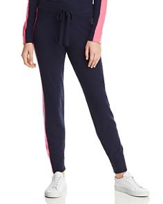 Minnie Rose - Track Stripe Cashmere Jogger Pants