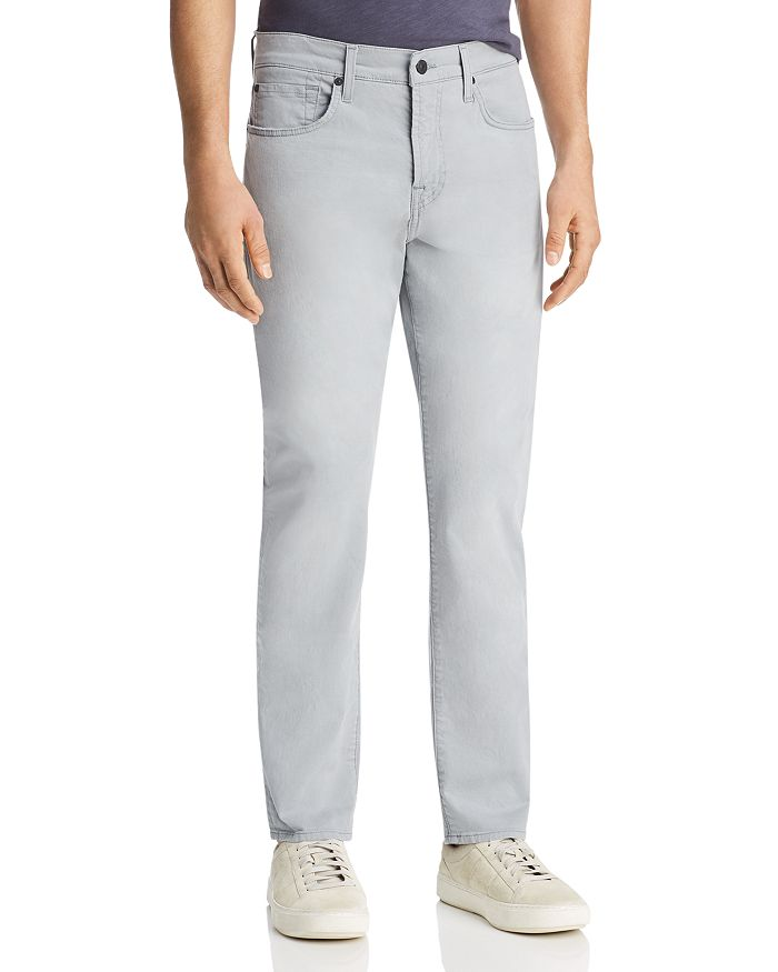 7 For All Mankind - Adrien Tapered Fit Jeans in Light Grey