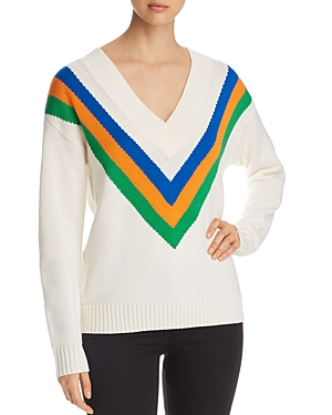 Tory Burch Striped Merino-Wool Sweater