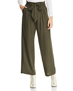 AQUA - Paperbag-Waist Wide-Leg Pants - 100% Exclusive