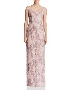 Aidan Mattox - Appliquéd Lace Gown