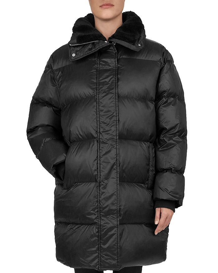 The Kooples - Faux-Fur Collar Quilted Puffer Coat