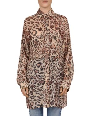 The Kooples Glam Leo Oversized Leopard-Print Shirt
