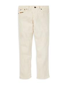 Ralph Lauren - Girls' Embroidered Waverly Straight Stretch Jeans - Big Kid