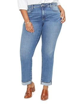 e548ab1f508 NYDJ Plus - Marilyn Straight-Leg Cuffed Ankle Jeans in Rhodes ...