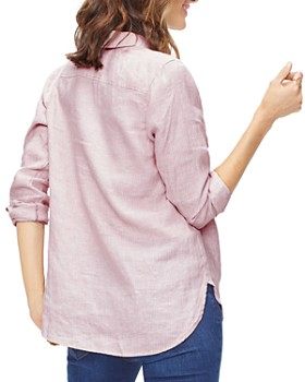 NYDJ - Striped Linen Popover Top