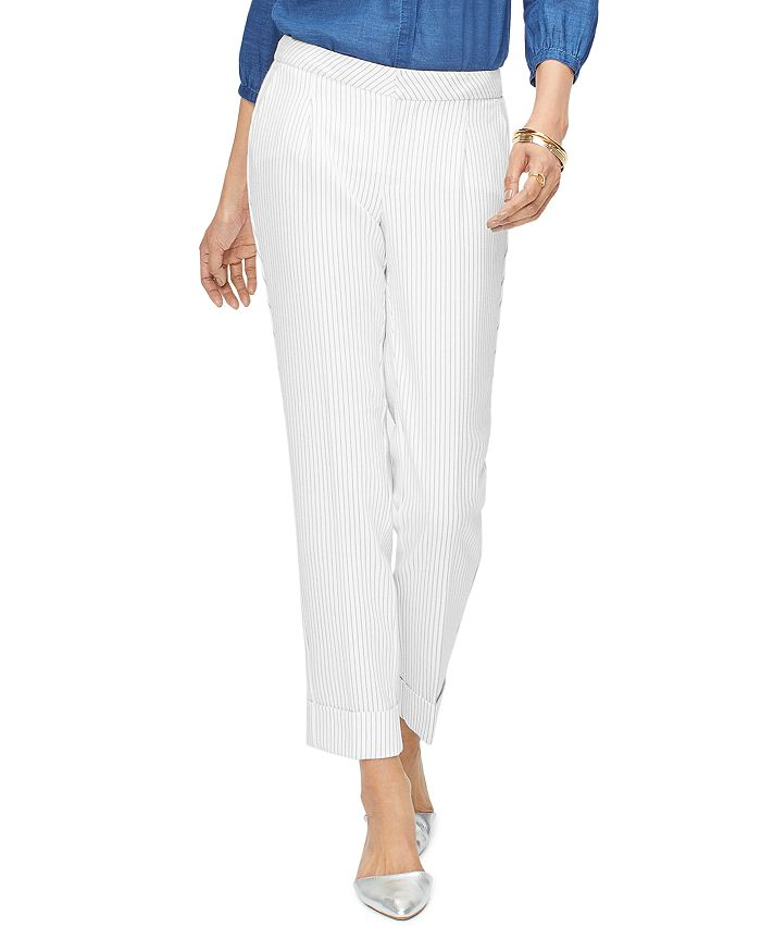 NYDJ - Everyday Pleated Striped Ankle Pants