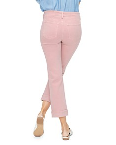 NYDJ - Marilyn Straight-Leg Cuffed Ankle Jeans in Pueblo Rose