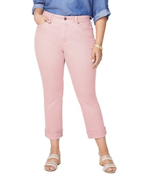 6cc6413286d NYDJ Plus - Marilyn Straight-Leg Cuffed Ankle Jeans in Pueblo Rose ...