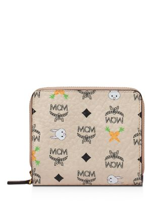 Rabbit Mini Zip Wallet by Mcm