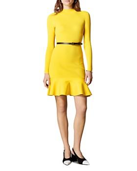 63bb8bba465 KAREN MILLEN - Belted Rib-Knit Dress ...