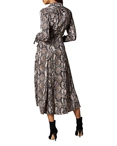 KAREN MILLEN - Snake Print Midi Wrap Dress