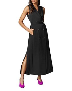 2cd18924810e01 KAREN MILLEN - Belted Tuxedo Maxi Dress ...