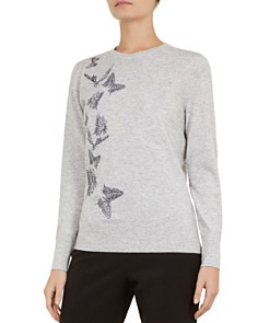 Ted Baker - Redinn Butterfly-Embroidered Sweater
