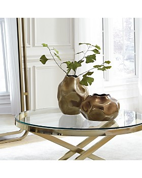 Howard Elliott - Matte Bronze Abstract Ceramic Home Accent Collection