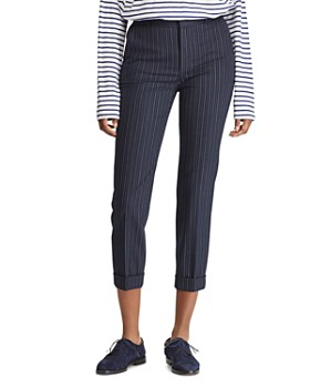 396c38a9981b9c Ralph Lauren - Pinstriped Skinny Cropped Pants - 100% Exclusive ...