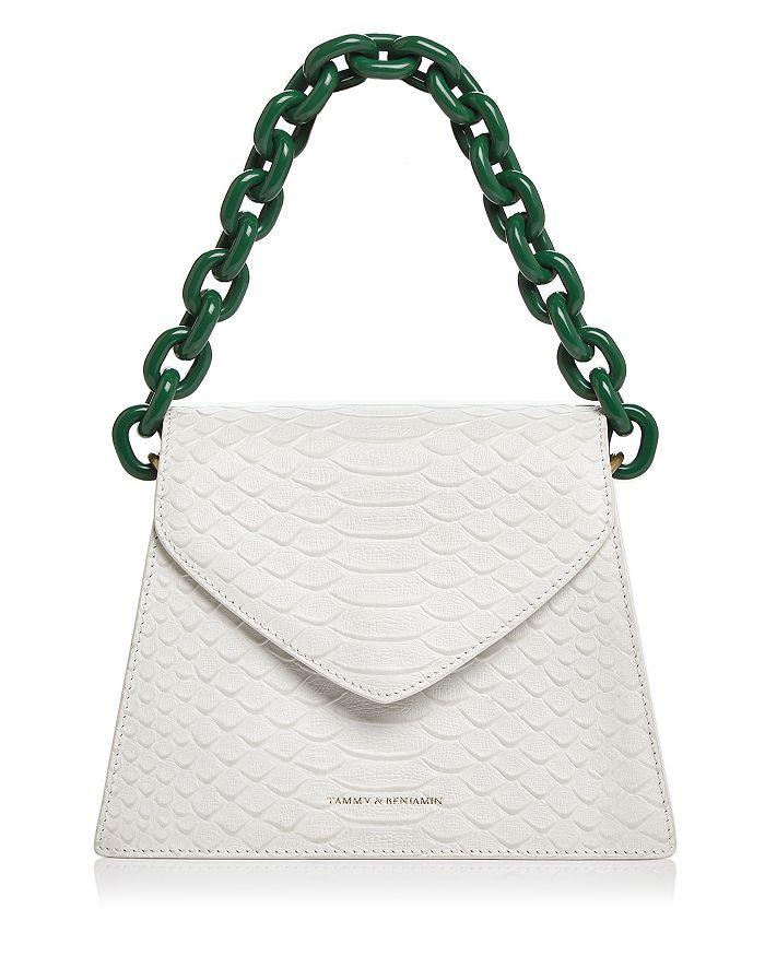 Tammy & Benjamin - Snake-Embossed Leather Shoulder Bag