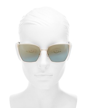 Tom Ford - Women's Mirrored Cat Eye Sunglasses, 59mm