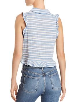 Bella Dahl - Ruffled Striped Cropped Top