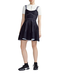 Maje - Relief Reversible Skater Dress