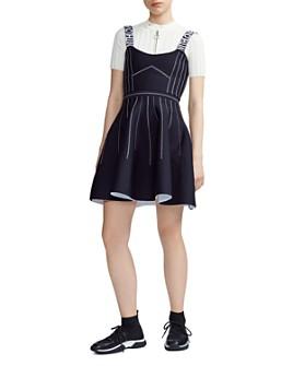 Maje - Relief Reversible Skater Dress