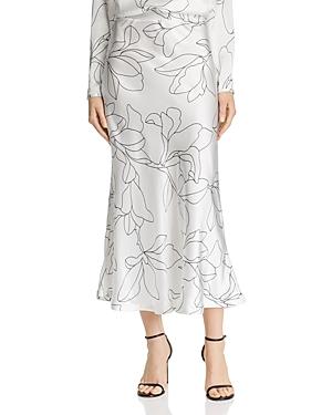 Equipment Iva Printed Silk Skirt