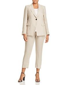 Marina Rinaldi - Castano Single-Button Linen Blazer