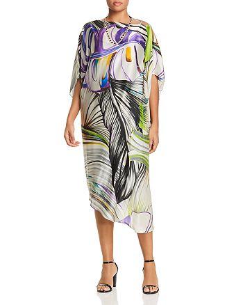 Marina Rinaldi - Definire Twisted Print Silk Dress