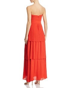 Fame and Partners - The Whittier Strapless Pleated Maxi Dress