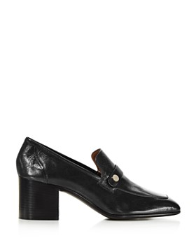 Laurence Dacade - Women's Tracy Block Heel Leather Loafers