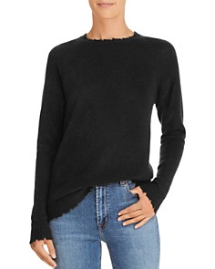 Minnie Rose - Distressed Cashmere Sweater