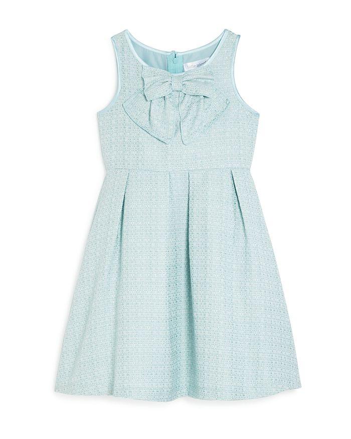US Angels - Girls' Tweed Bow-Neck Dress - Little Kid