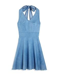 Miss Behave - Chambray Halter Dress
