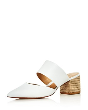 c19c8f86723 SCHUTZ - Women s Deliana Pointed Toe Leather Block Heel Mules ...