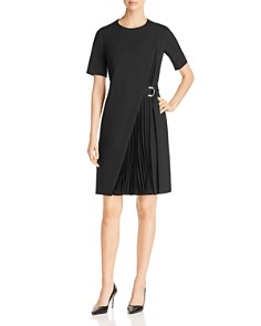 BOSS - Dakilane Pleated Overlay Dress