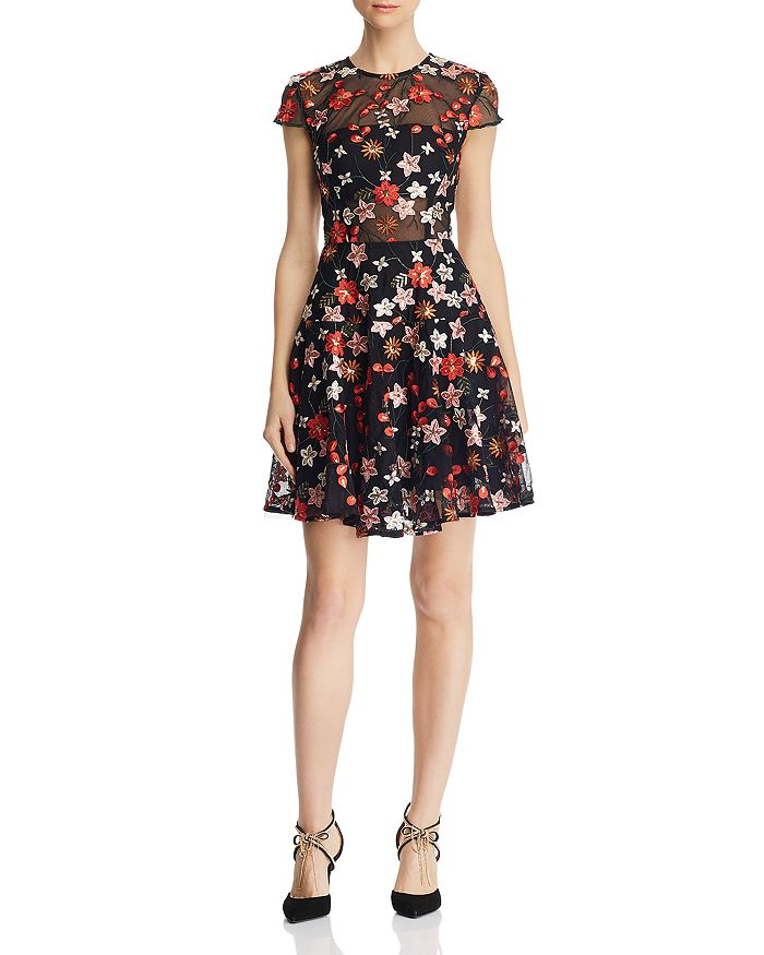 BRONX AND BANCO - Rouge Floral Embroidered Dress