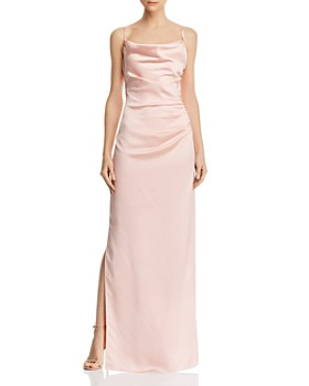 58ec287143c6bb Laundry by Shelli Segal - Ruched Satin Gown ...