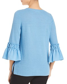 Le Gali - Dawn Bell-Sleeve Mixed Media Sweater