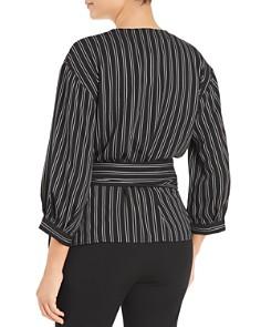 Calvin Klein - Double Stripe Faux-Wrap Blouse