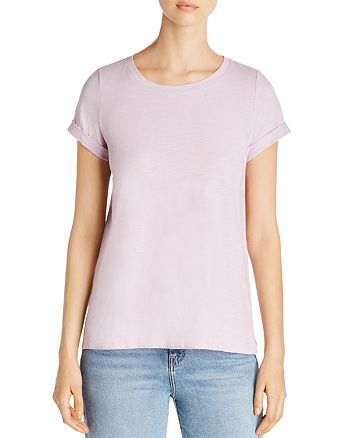 Eileen Fisher Petites - Short-Sleeve Organic Cotton Tee - 100% Exclusive