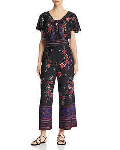 Band of Gypsies - Cambridge Printed Tie-Front Top