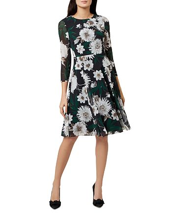 HOBBS LONDON - Aurelie Floral A-Line Dress