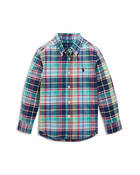 e05c695448 Ralph Lauren - Boys  Plaid Poplin Sport Shirt - Little Kid ...